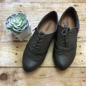 Call It Spring Wing Tip Oxford Gray